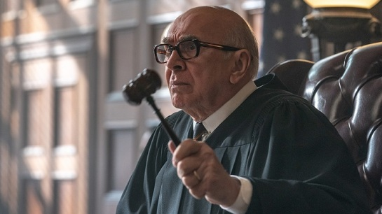 Frank Langella as Julius Hoffman in The Trial of the Chicago 7